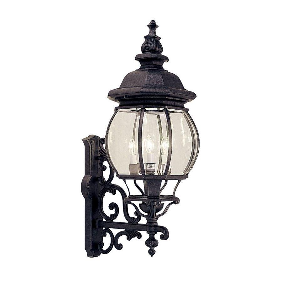 Livex Lighting Frontenac 30-in H Black Outdoor Wall Light