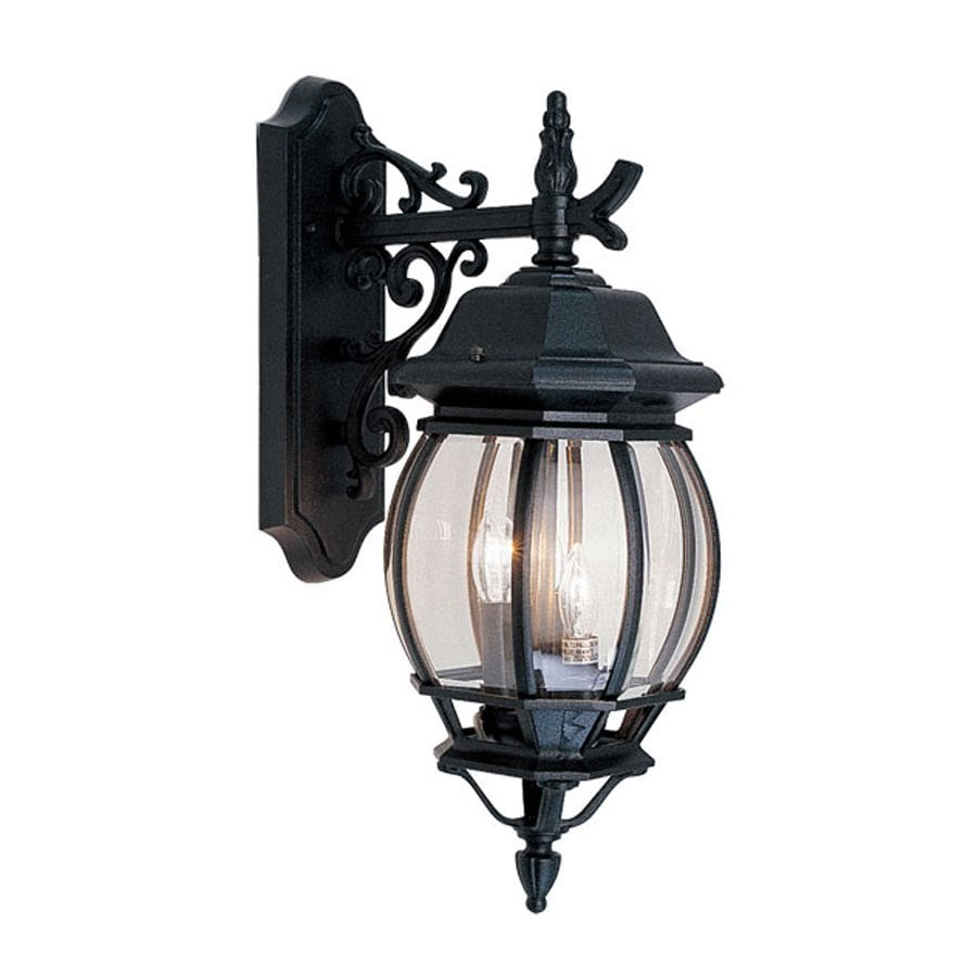 Livex Lighting Frontenac 20.75-in H Black Outdoor Wall Light