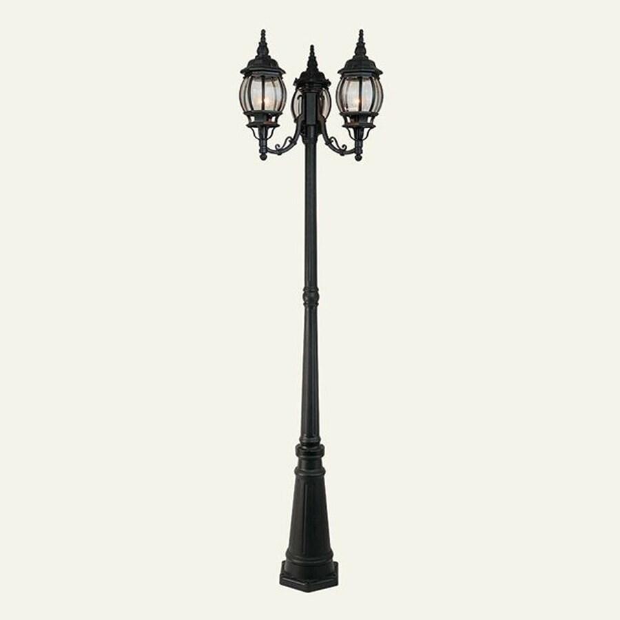 Livex Lighting 84-in H Black Post Light