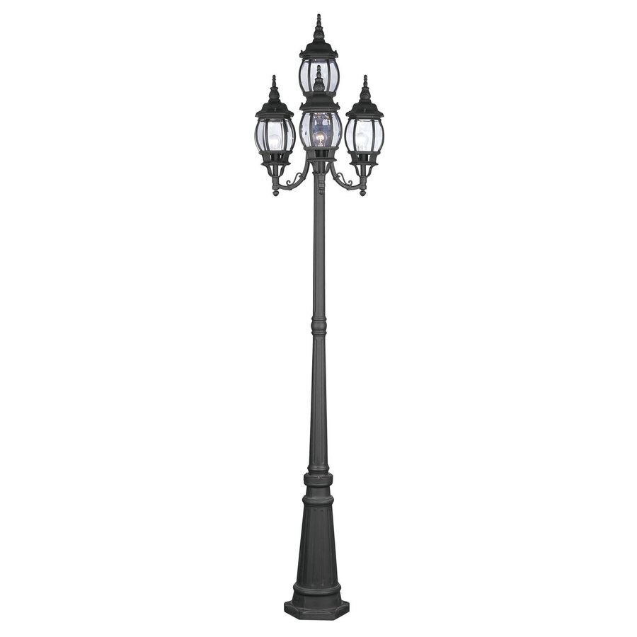 Livex Lighting Frontenac 93-in H Black Post Light