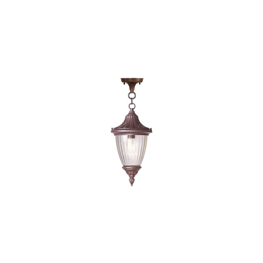 Livex Lighting Townsend 18-in H Bronze Outdoor Pendant Light