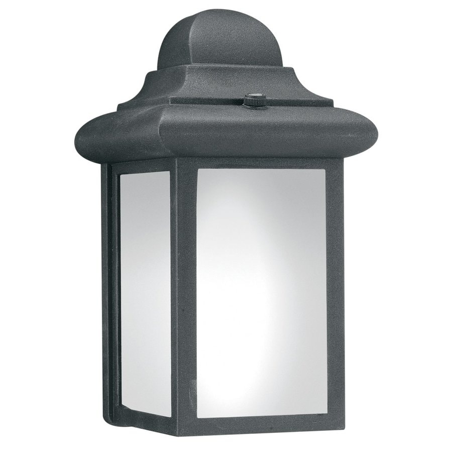 Thomas Lighting Hawthorne 9-in H Matte Black Outdoor Wall Light