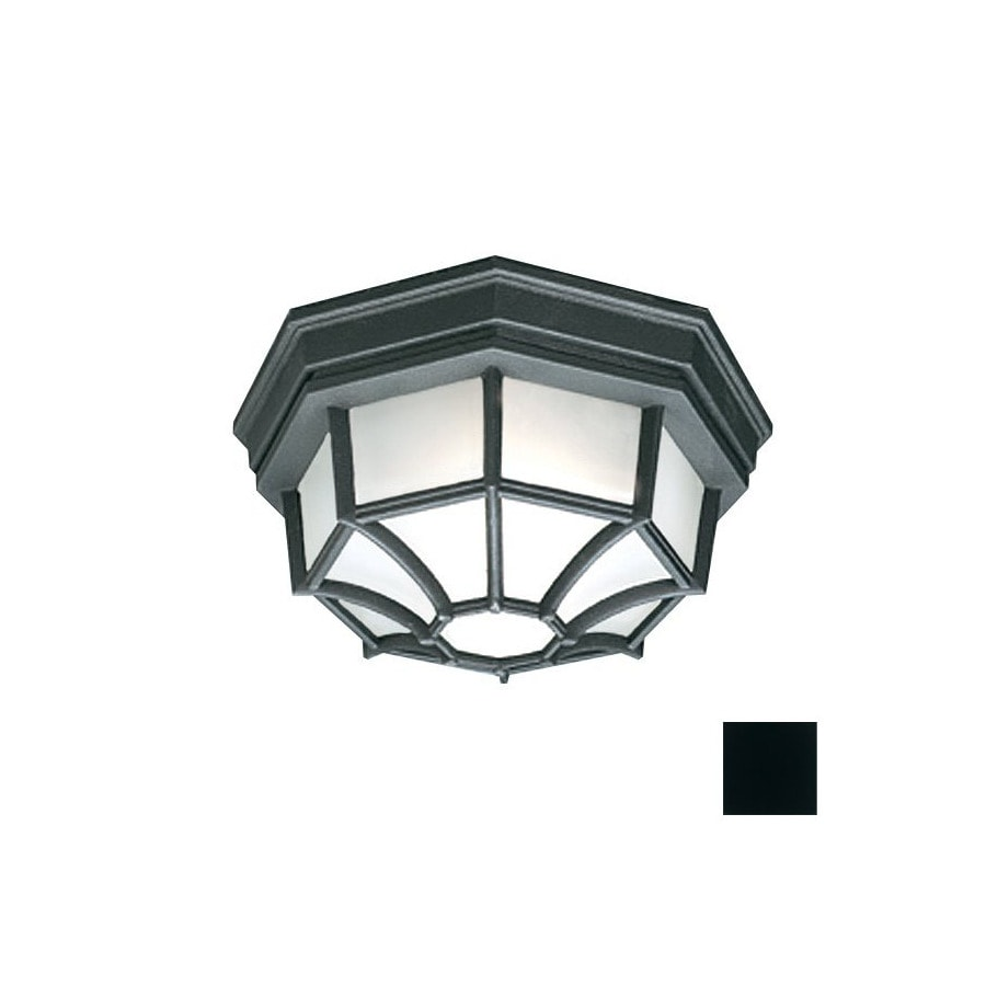 Thomas Lighting 10.5-in W Black Outdoor Flush-Mount Light