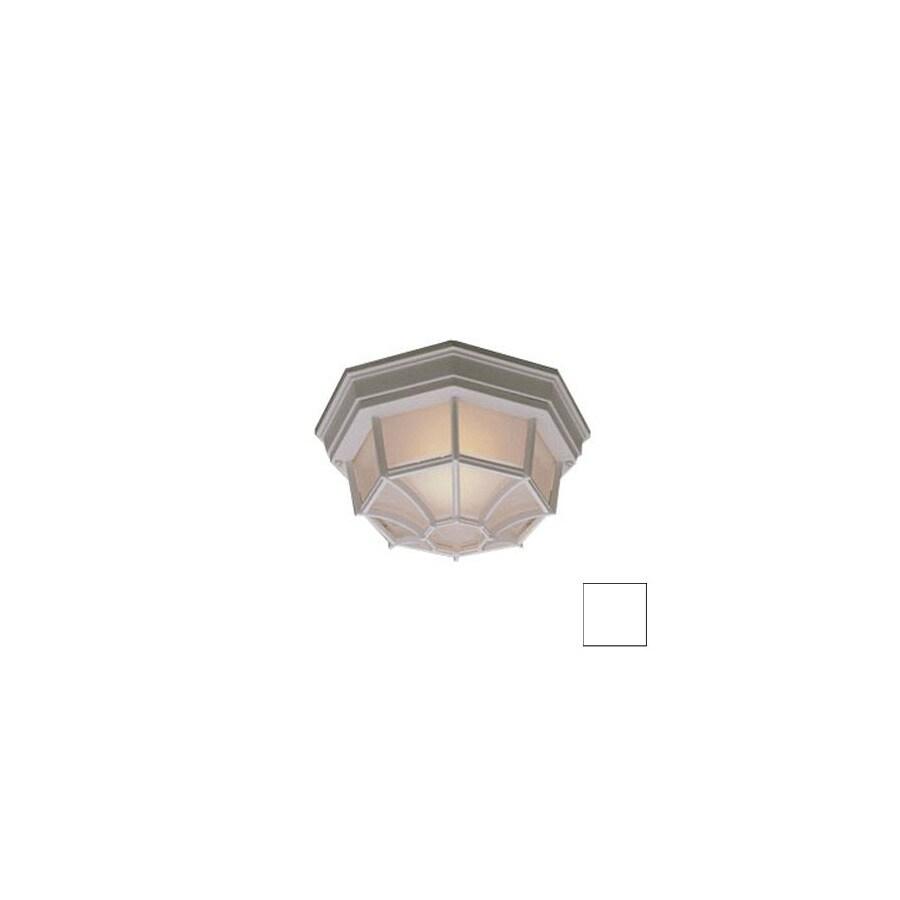 Thomas Lighting 10.5-in W White Outdoor Flush-Mount Light