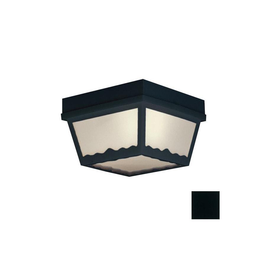 Thomas Lighting 8-in W Black Outdoor Flush-Mount Light