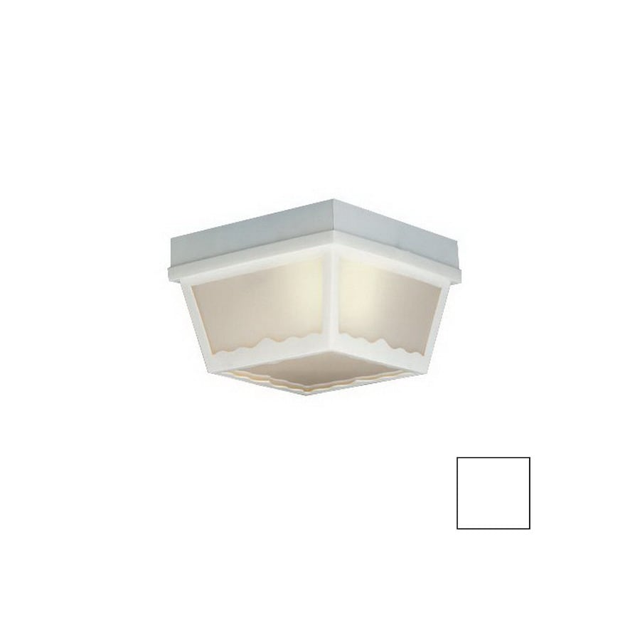 Thomas Lighting 8-in W White Outdoor Flush-Mount Light