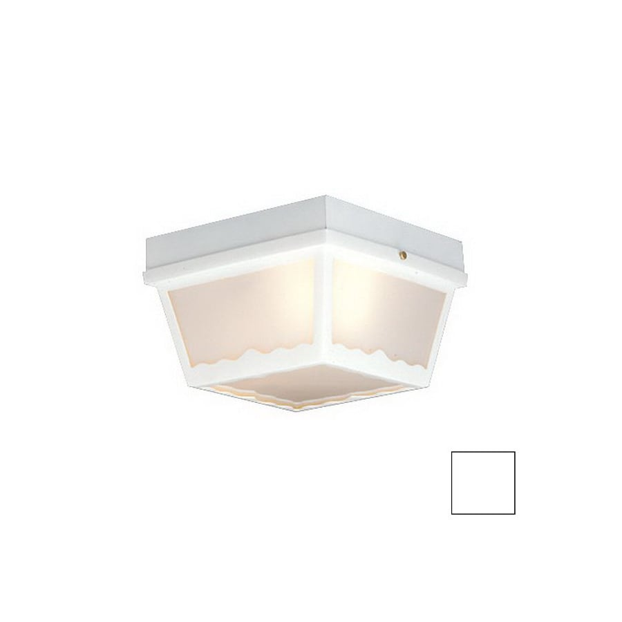 Thomas Lighting 9.5-in W White Outdoor Flush-Mount Light