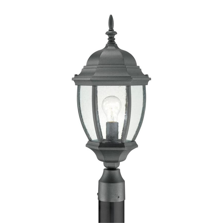 Thomas Lighting Convington 21.5-in H Black Pier-Mounted Light