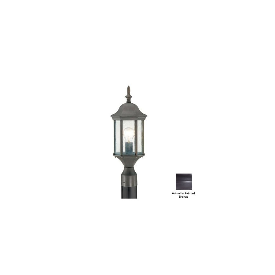 Thomas Lighting Hawthorne 21-in H Painted Bronze Pier-Mounted Light