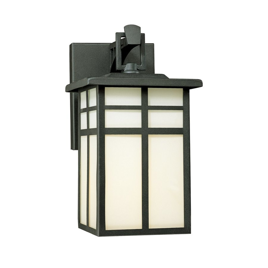 Thomas Lighting Mission 10.5-in H Matte Black Outdoor Wall Light
