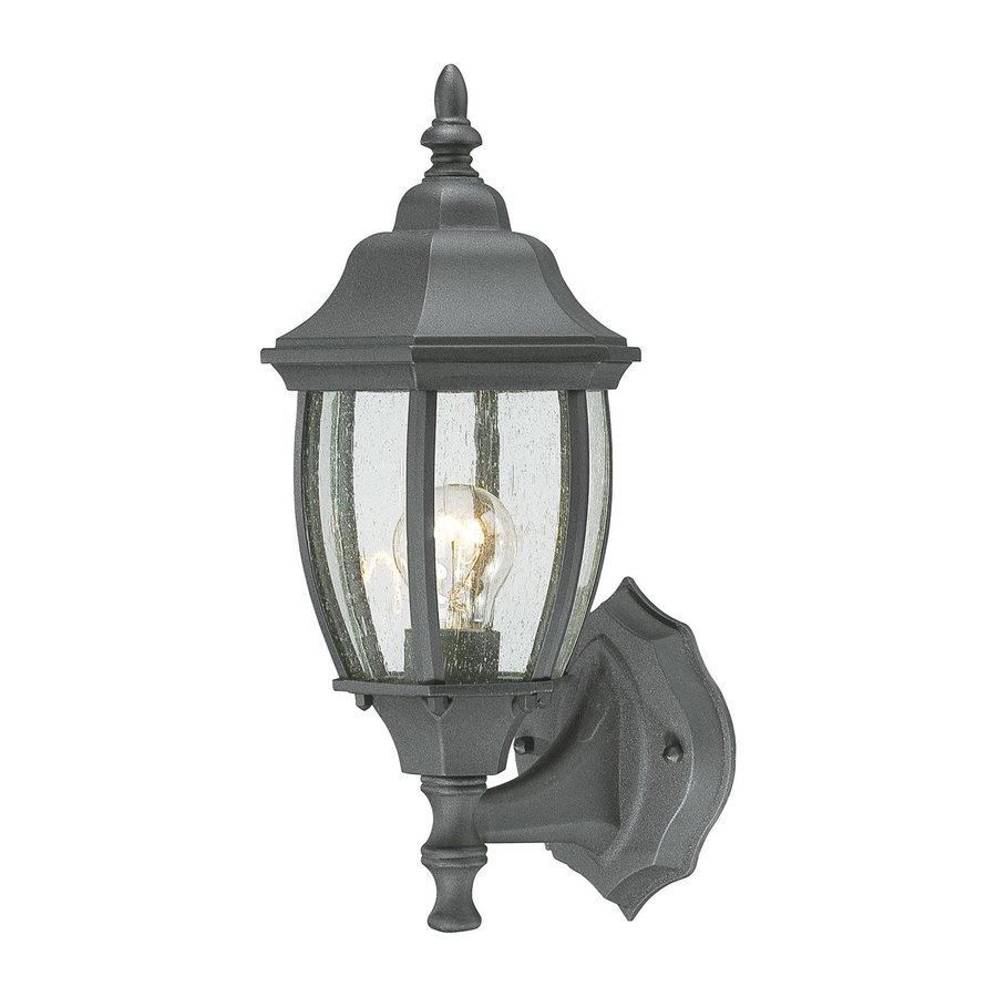 Thomas Lighting Convington 14.25-in H Black Outdoor Wall Light