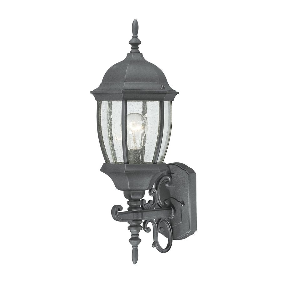Thomas Lighting Convington 21.5-in H Black Outdoor Wall Light