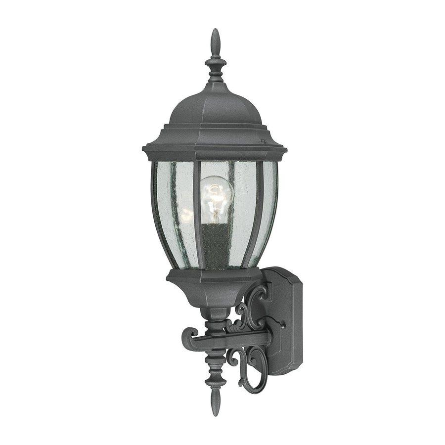 Thomas Lighting Convington 24-in H Black Outdoor Wall Light
