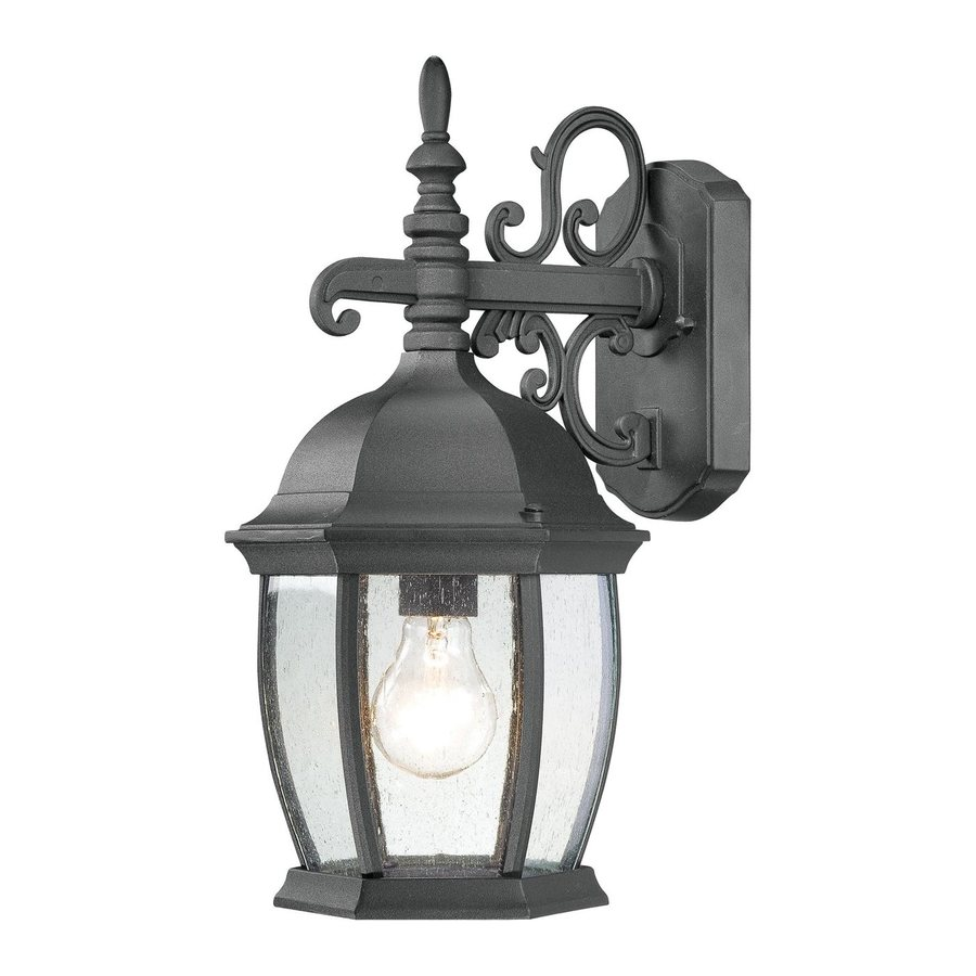 Thomas Lighting Convington 16-in H Black Outdoor Wall Light