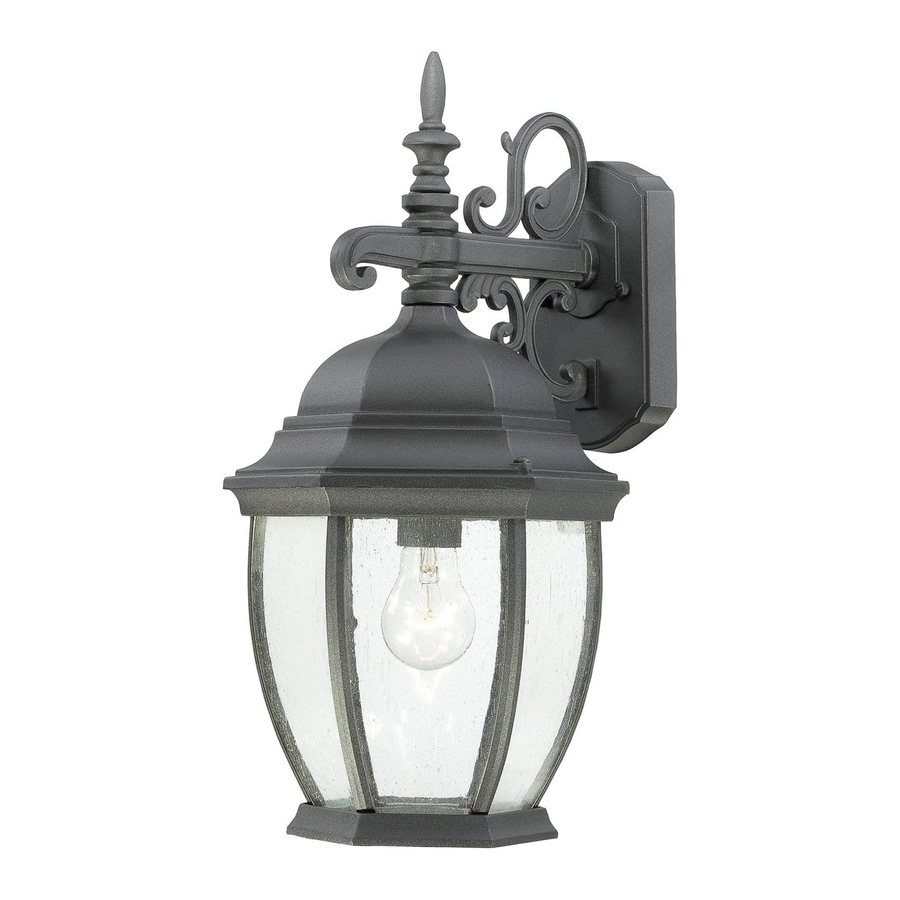Thomas Lighting Convington 18-in H Black Outdoor Wall Light
