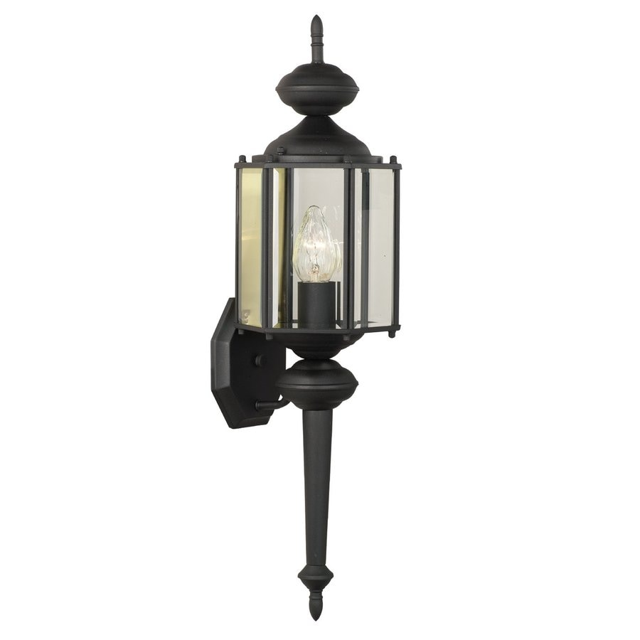 Thomas Lighting Brentwood 25.75-in H Matte Black Outdoor Wall Light