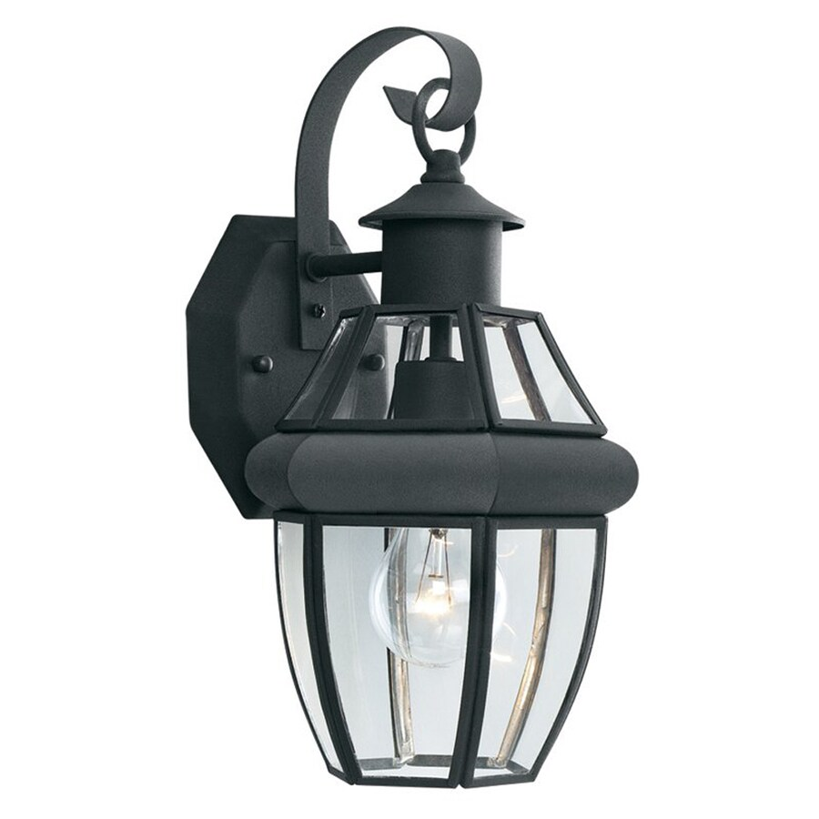 Thomas Lighting Heritage 13.25-in H Matte Black Medium Base (E-26) Outdoor Wall Light