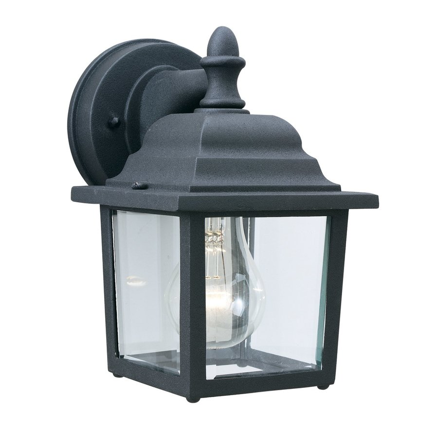 Thomas Lighting 8.5-in H Black Outdoor Wall Light