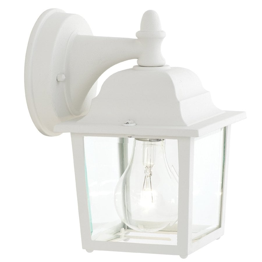 Thomas Lighting 8.5-in H White Outdoor Wall Light