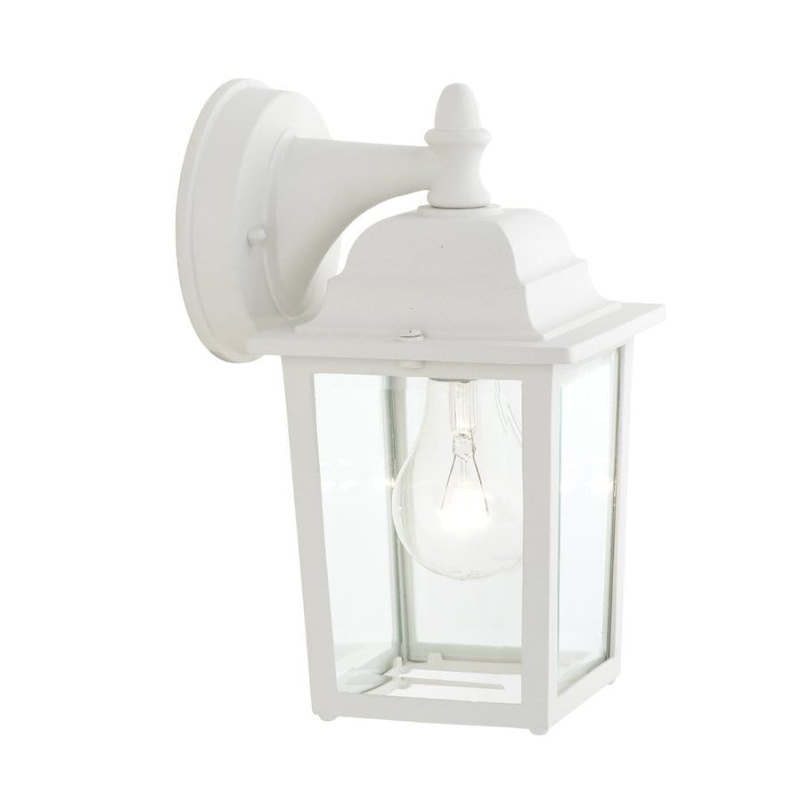 Thomas Lighting Hawthorne 10-in H Matte White Medium Base (E-26) Outdoor Wall Light
