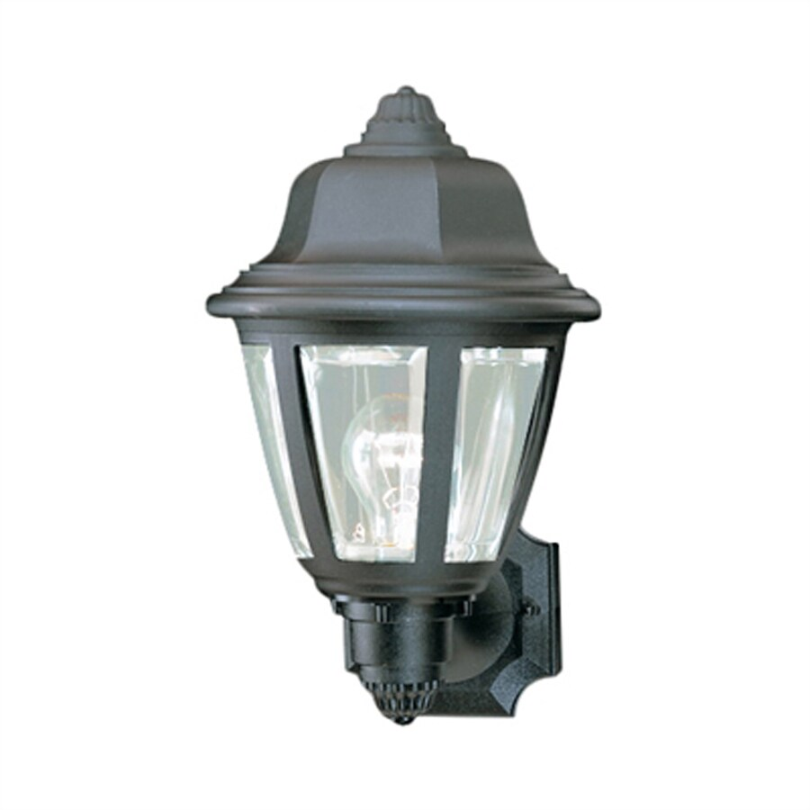 Thomas Lighting 13.5-in H Black Outdoor Wall Light