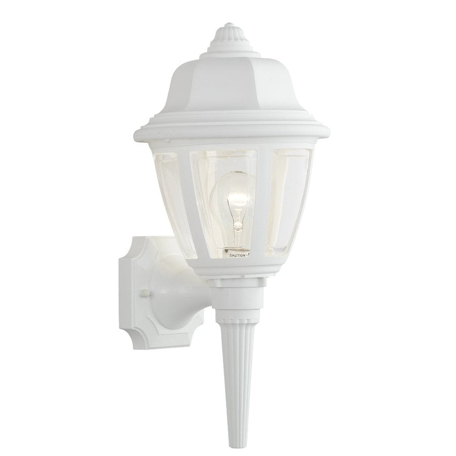 Thomas Lighting 17.5-in H White Outdoor Wall Light