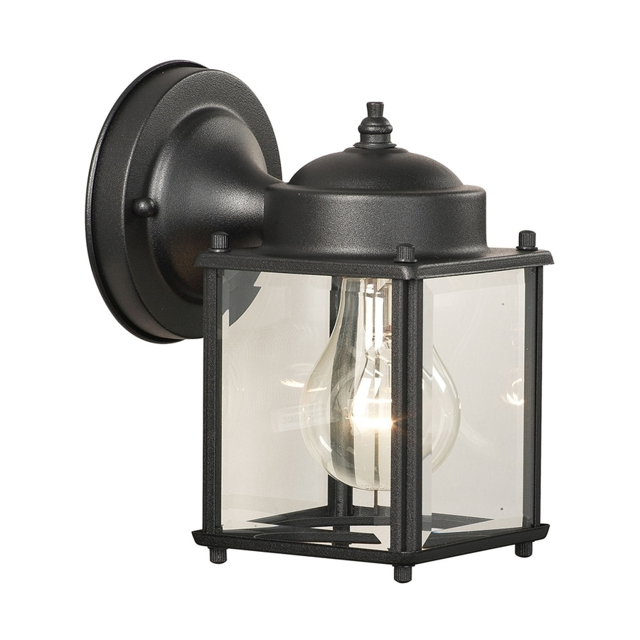 Thomas Lighting Park Avenue 7.5-in H Black Outdoor Wall Light