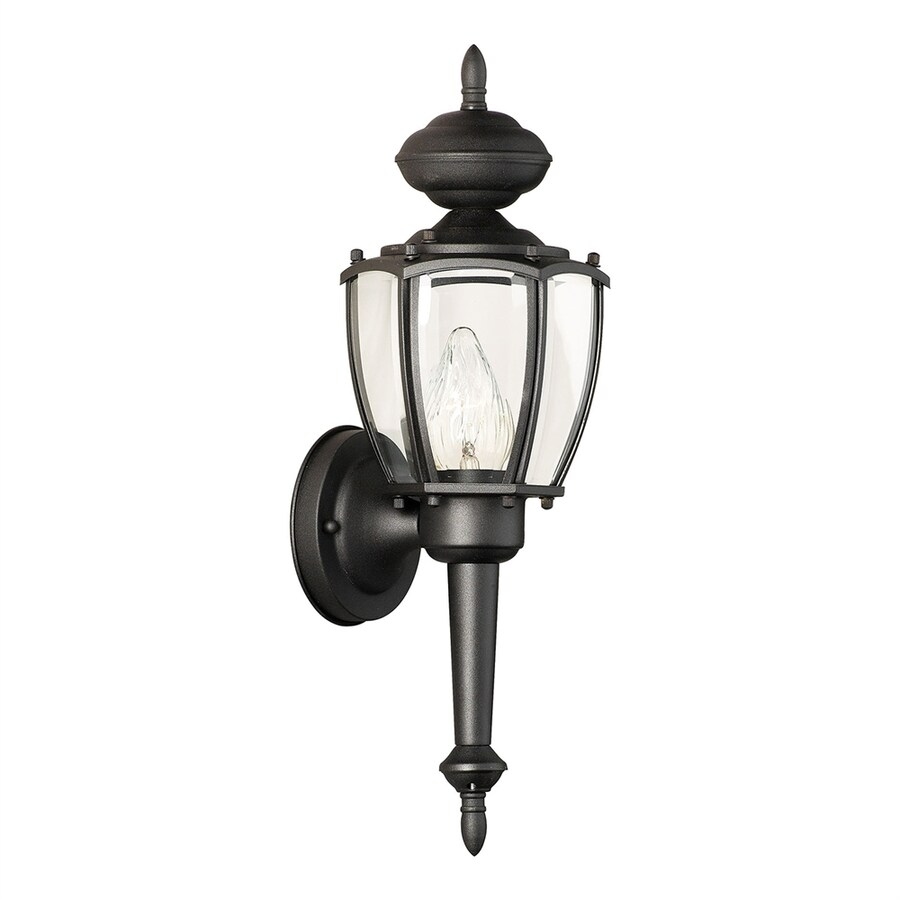 Thomas Lighting Park Avenue 17.5-in H Black Outdoor Wall Light