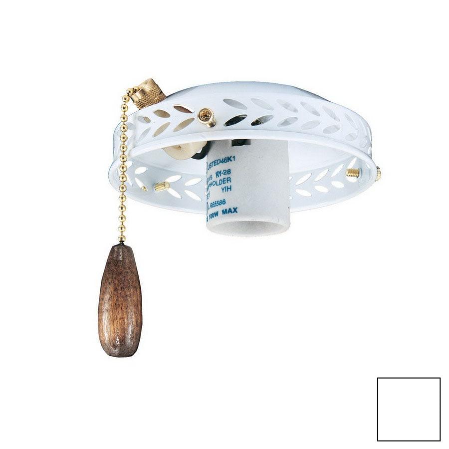 Thomas Lighting 1-Light White Ceiling Fan Light Kit