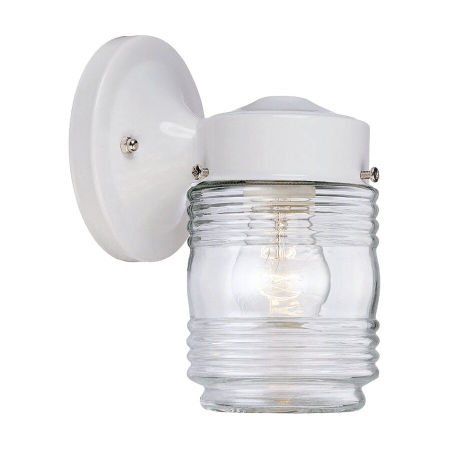 Acclaim Lighting Builders Choice 7.25-in H White Outdoor Wall Light