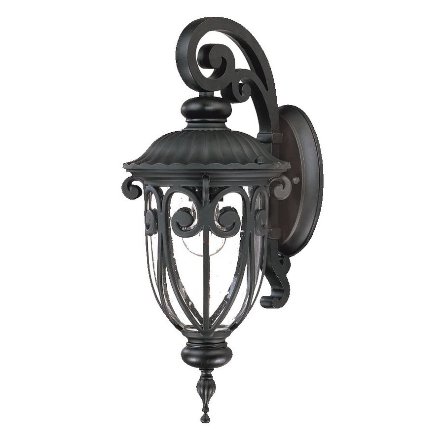 Acclaim Lighting Naples 18-in H Matte Black Outdoor Wall Light