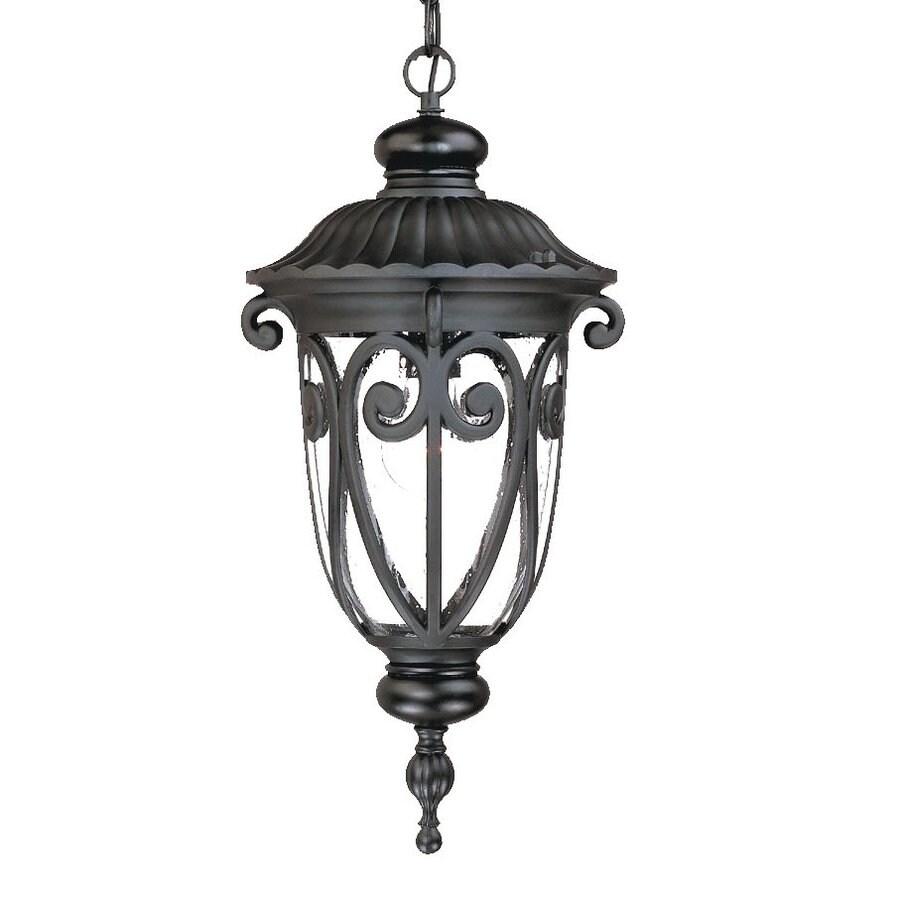 Acclaim Lighting Naples 20.5-in Matte Black Outdoor Pendant Light