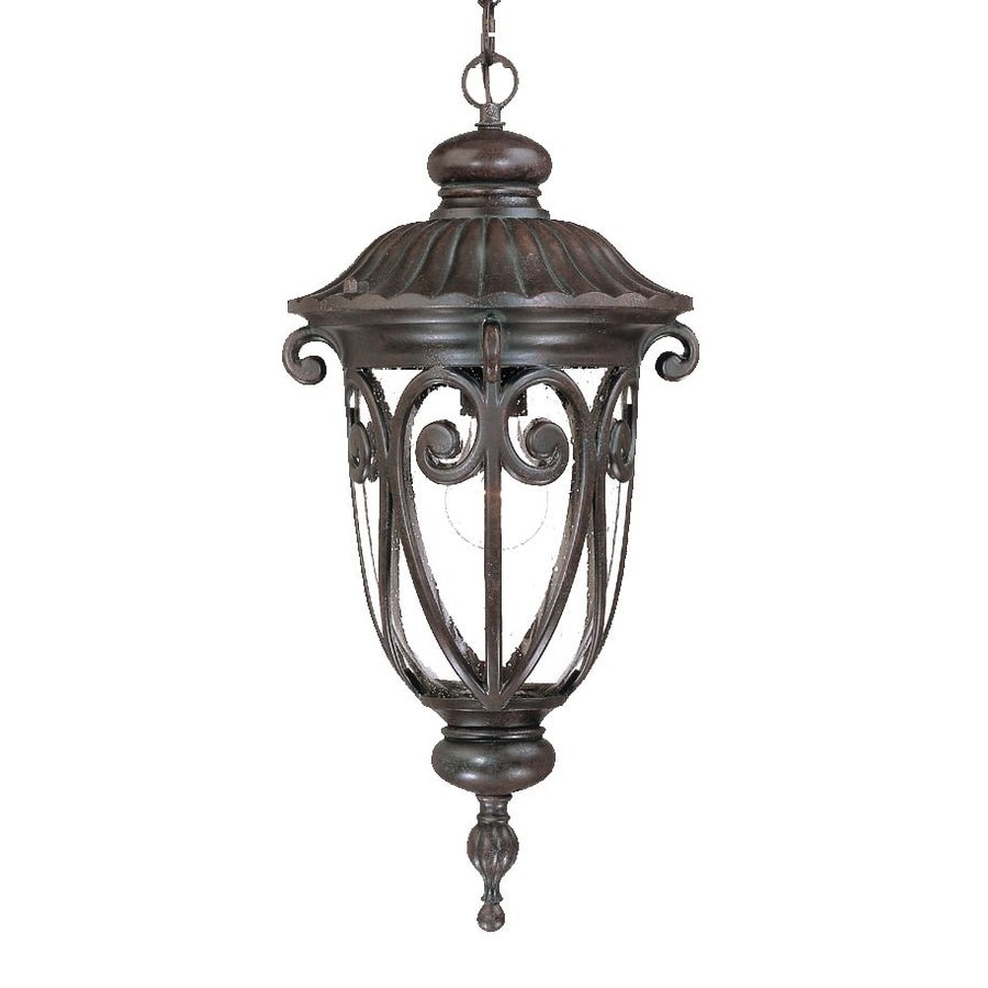 Acclaim Lighting Naples 20.5-in Marbleized Mahogany Outdoor Pendant Light