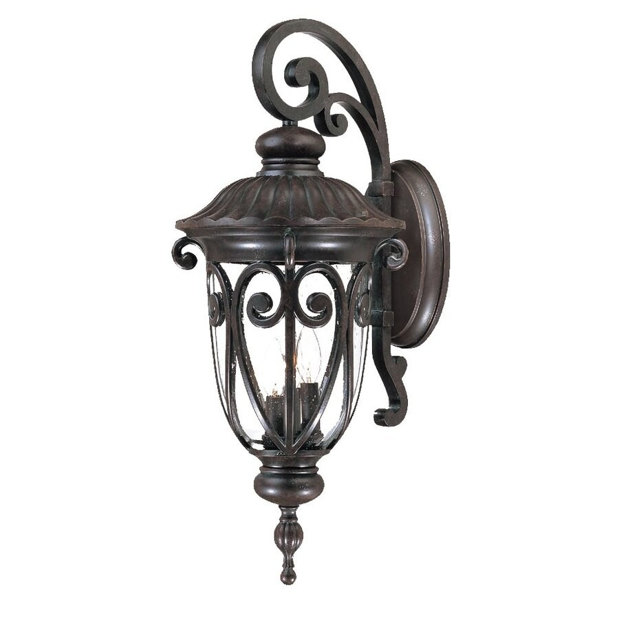 Acclaim Lighting Naples 27.5-in H Marbleized Mahogany Outdoor Wall Light