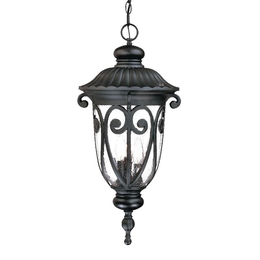 Acclaim Lighting Naples 24.5-in Matte Black Outdoor Pendant Light