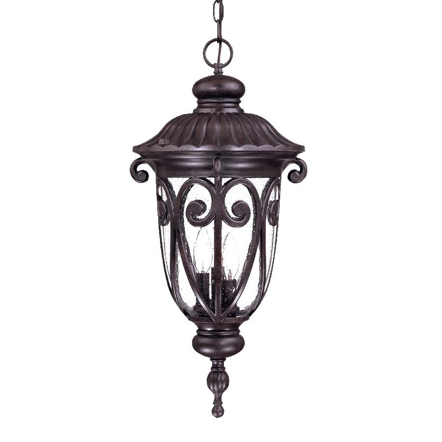 Acclaim Lighting Naples 24.5-in Marbleized Mahogany Outdoor Pendant Light