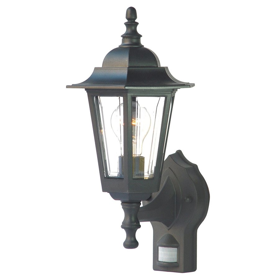 Acclaim Lighting Tidewater 15.25-in H Matte Black Motion Activated Outdoor Wall Light