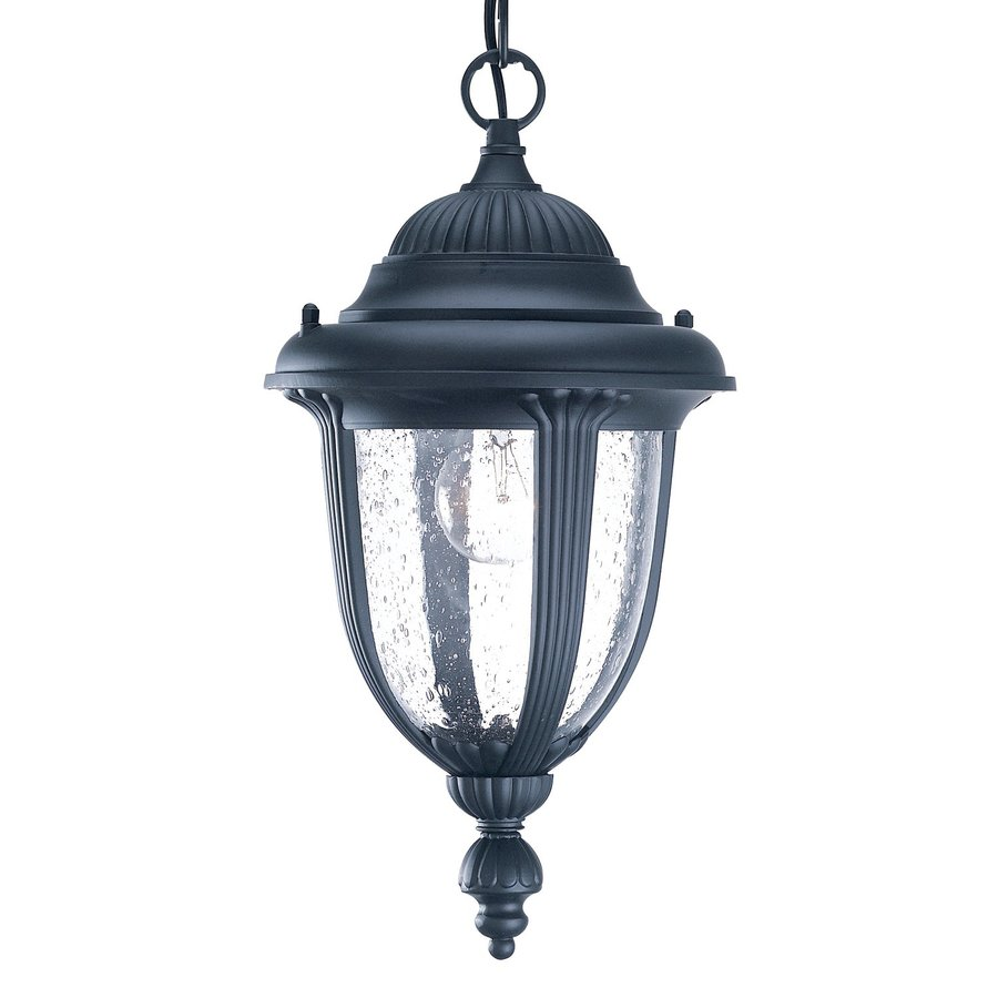 Acclaim Lighting Monterey 14-in Matte Black Outdoor Pendant Light