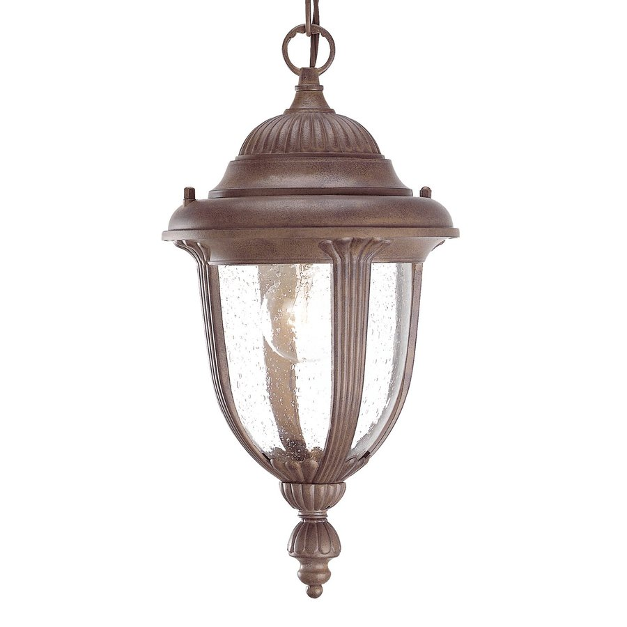 Acclaim Lighting Monterey 14-in Burled Walnut Outdoor Pendant Light