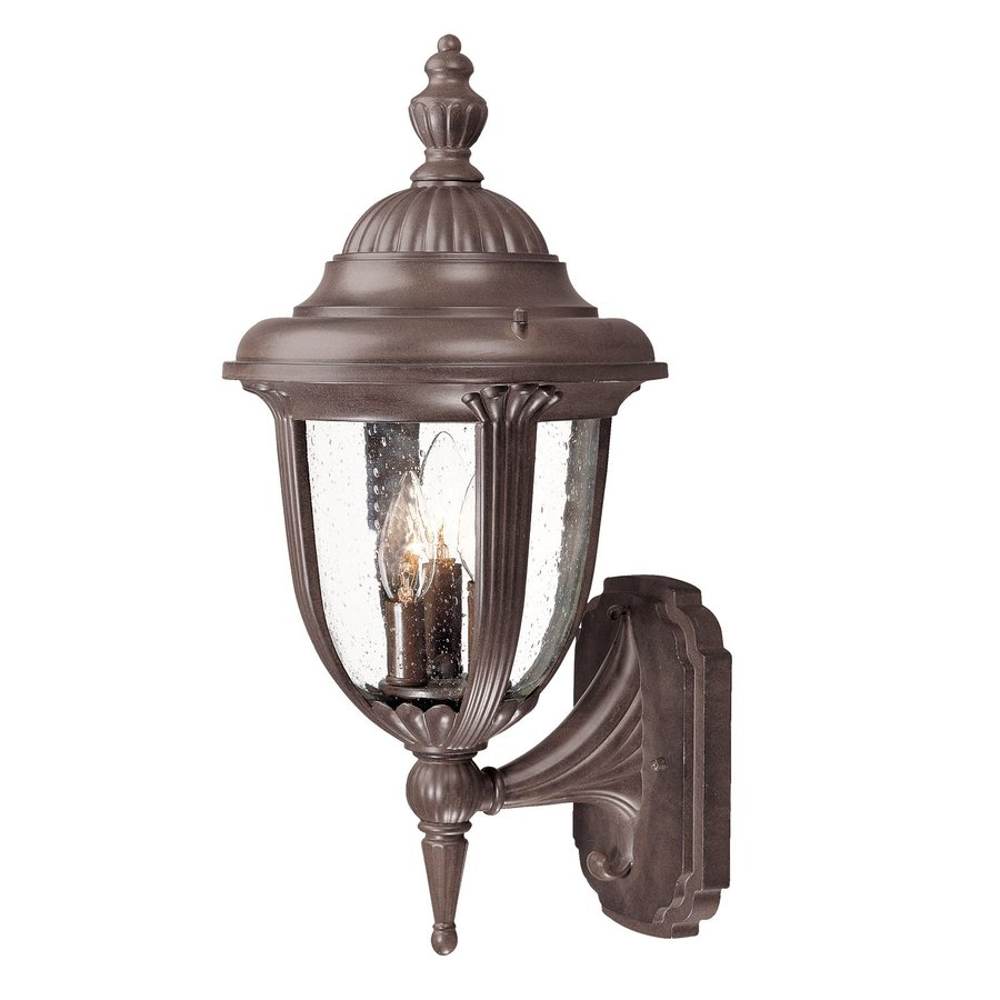 Acclaim Lighting Monterey 20.5-in H Burled Walnut Outdoor Wall Light