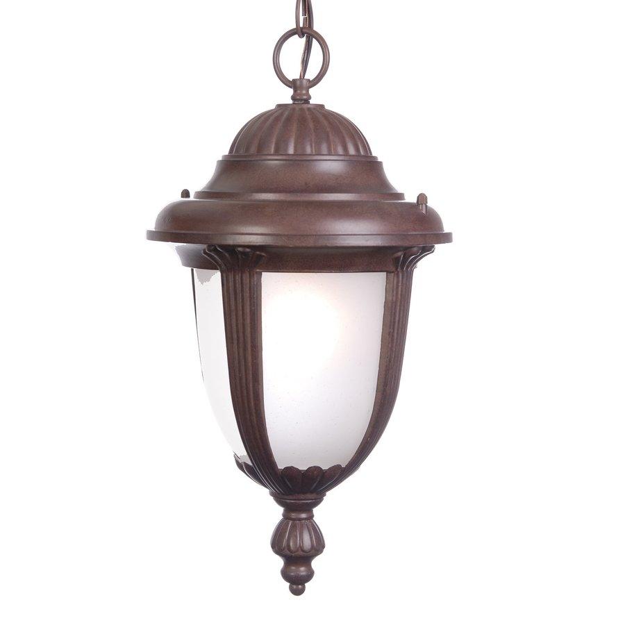 Acclaim Lighting Monterey 19.5-in Burled Walnut Outdoor Pendant Light