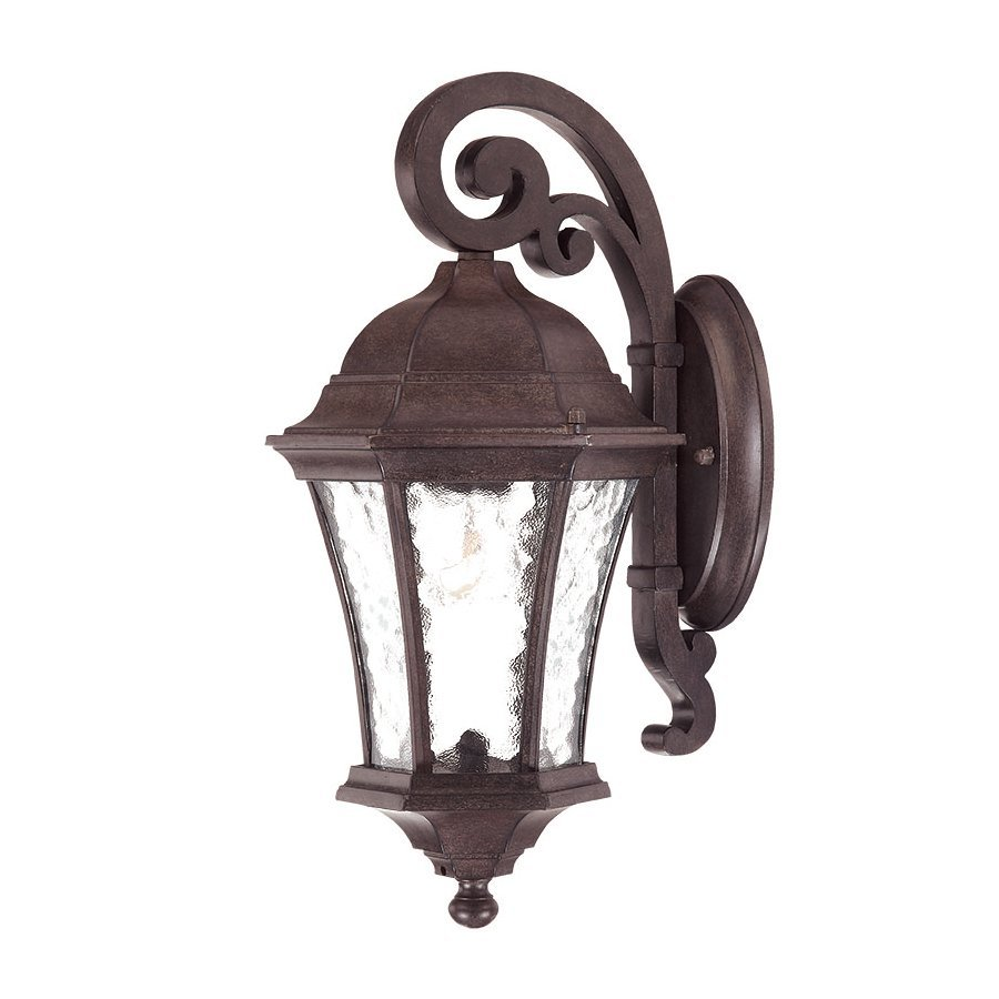 Acclaim Lighting Waverly 16.5-in H Black Coral Outdoor Wall Light