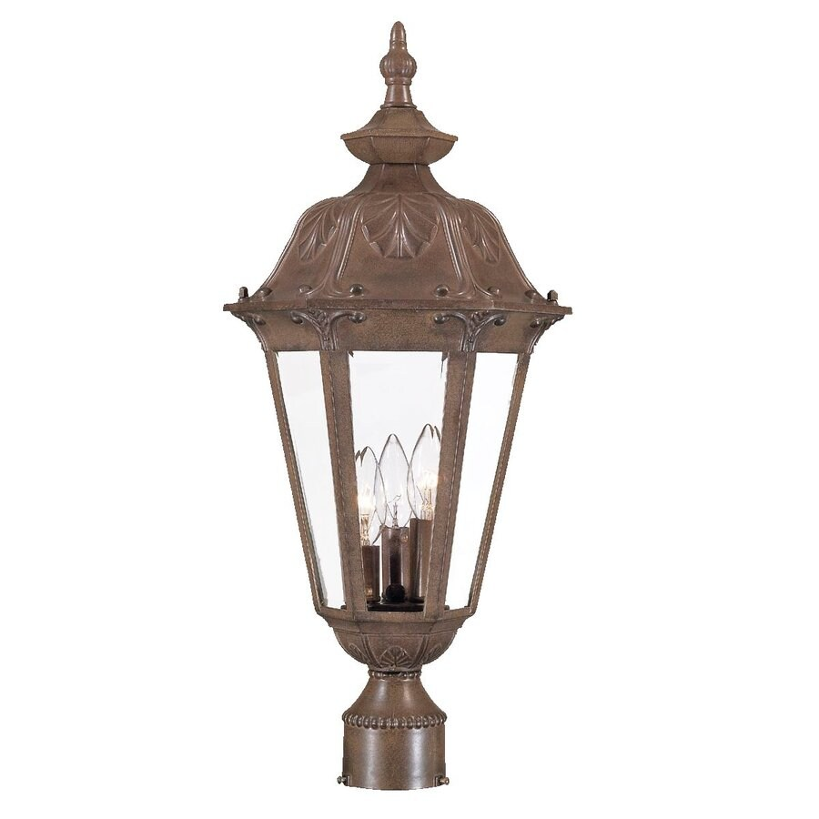 Acclaim Lighting Dorchester 23.75-in H Burled Walnut Post Light