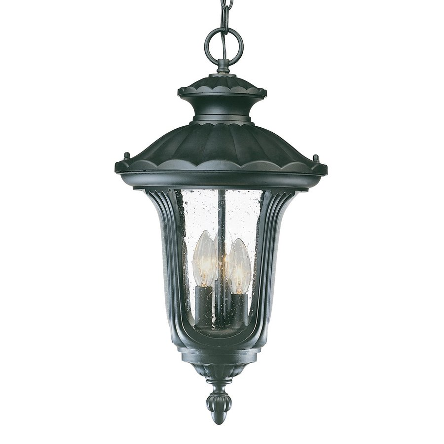 Acclaim Lighting Augusta 20.25-in Matte Black Outdoor Pendant Light