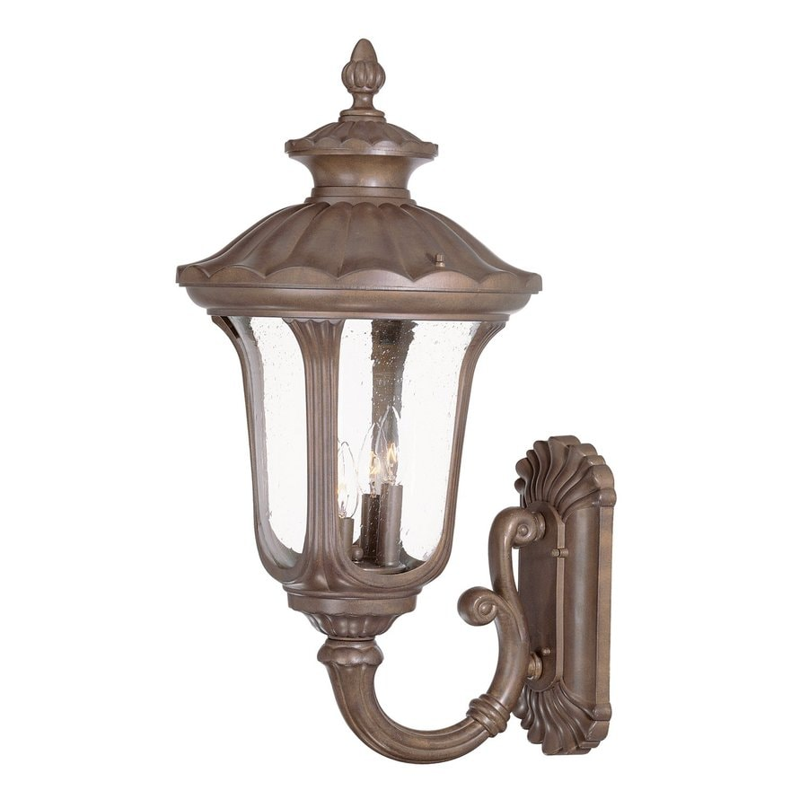 Acclaim Lighting Augusta 28-in H Burled Walnut Outdoor Wall Light