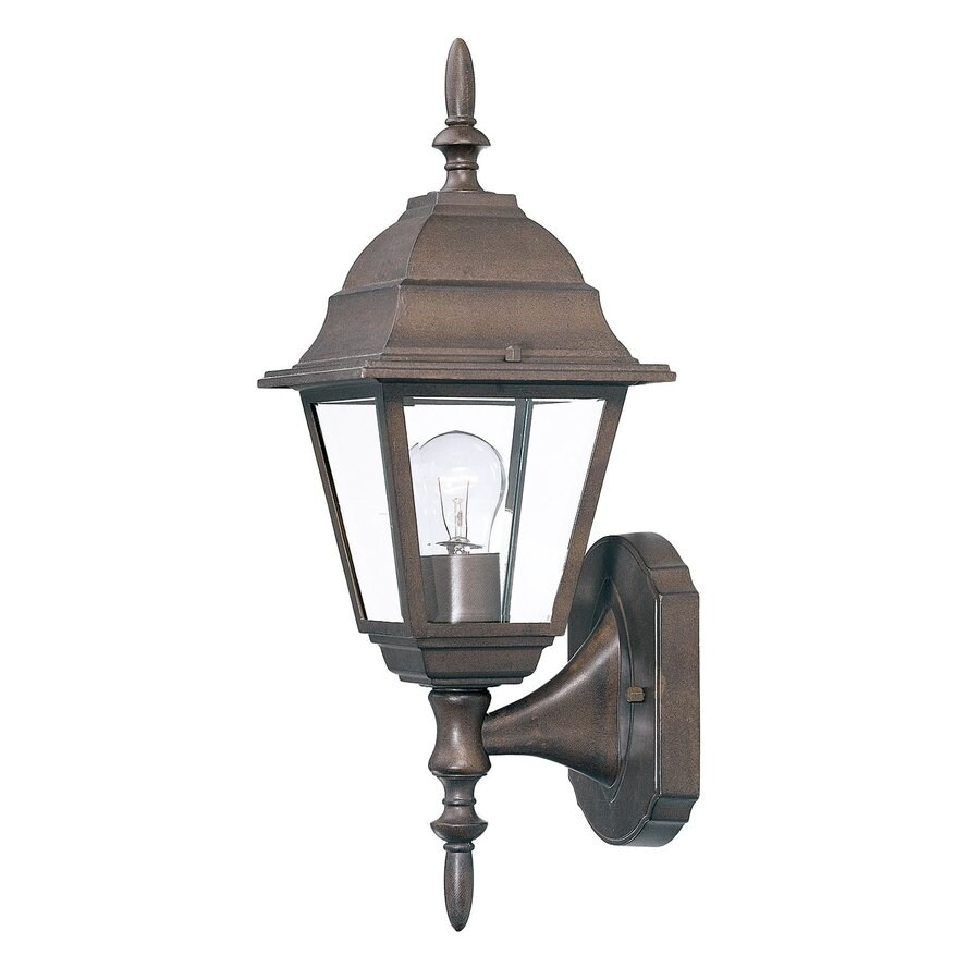 Acclaim Lighting Builders Choice 16-in H Burled Walnut Outdoor Wall Light