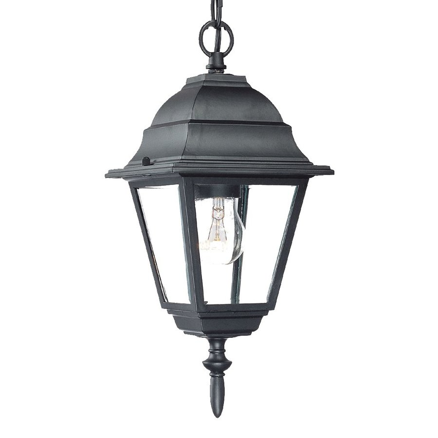 Acclaim Lighting Builder's Choice 12.5-in Matte Black Outdoor Pendant Light