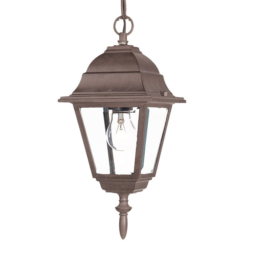Acclaim Lighting Builder's Choice 12.5-in Burled Walnut Outdoor Pendant Light