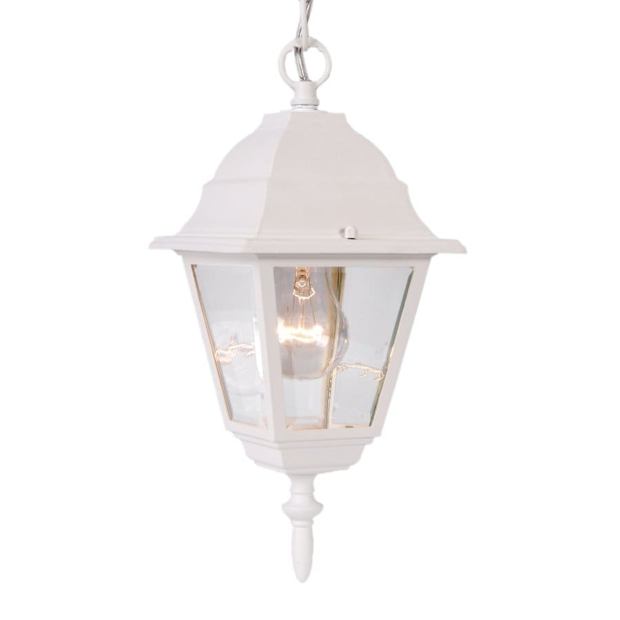 Acclaim Lighting Builder's Choice 12.5-in Textured White Outdoor Pendant Light