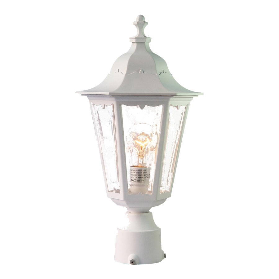 Acclaim Lighting Tidewater 18-in H Textured White Post Light
